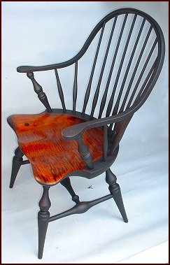 Windsor Chair With Tiger Maple Seat